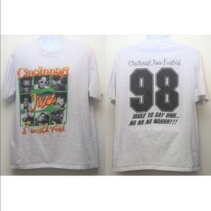 1998 CINCINNATI JAZZ FESTIVAL Promo Concert Tee